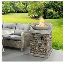 Peaktop Peaktop Gas Fire Pit Stone With Lava Rock