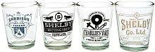 Peaky Blinders Shot Glass Set (Pack of 4) (One
