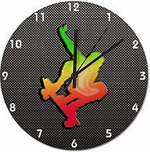 Pealrich 25 x 25 CM Non-Ticking Wall Clock Silent