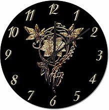 Pealrich 25 x 25 CM Wall Clock Elegant Art Nouveau