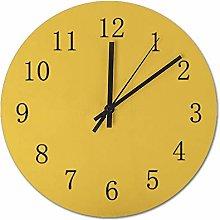 Pealrich 25 x 25 CM Wall Clock Mustard Yellow