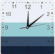 Pealrich Farmhouse Wood Clock, Gradient Navy Black