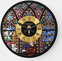 Pealrich Round Wooden Wall Clock, 50th Ordination