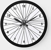 Pealrich Round Wooden Wall Clock, Bicycle Wheel