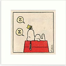Peanuts - Snoopy Snooze Framed Print & Mount, 33.5
