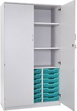 Pearl 21 Shallow Tray Storage Cupboard With 2
