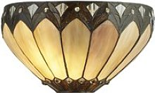 Pearl Tiffany Wall Light In Clear, Brown And Purple