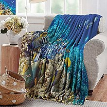 PearlRolan Custom Sofa Bed Throw Blanket Clear