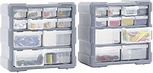 pedkit Multi-drawer Organisers with 12 Drawers, 2