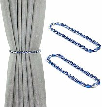Pedobo Magnetic Curtain Tiebacks, Crystal Beads