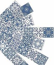 Peel & Stick Stair Pedal Stickers, Tile Backsplash