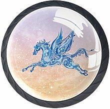 Pegasus Art 4 Pieces Crystal Glass Wardrobe