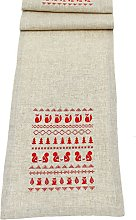 Peggy Wilkins Christmas Table Runner - Woodland