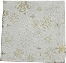 Peggy Wilkins Snow Crystal Chrismas Champagne/Gold