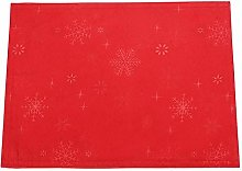 Peggy Wilkins Snow Crystal Christmas Red Table