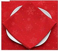 Peggy Wilkins Sparkly Snowflakes Napkin (Crimson)