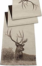Peggy Wilkins Stag Table Runner