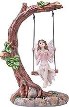 Pelle & Sol Fairy Swinging on Tree Ornament 14cm -