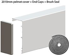 Pelmet Cover with End Caps for Hercules Glass