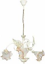 Pelton 3-Light Shaded Chandelier Lily Manor