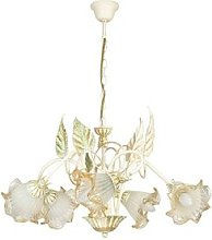 Pelton 5-Light Shaded Chandelier Lily Manor