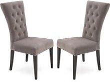 Pembroke Taupe Velvet Upholstered Dining Chair In