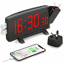 PEMOTech Projection Alarm Clock, 7'' LED