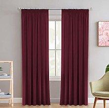 Pencil Pleat Blackout Window Curtains Drapes for
