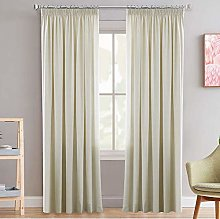 Pencil Pleat Blackout Window Curtains for Room