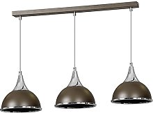 Pendant Ceiling 3 Lights Wenge Brown Chocolate