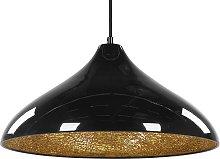 Pendant Ceiling Lamp Light Metal Black Cracked