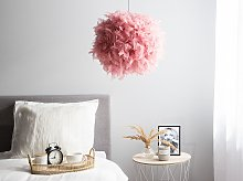 Pendant Ceiling Lamp Pink Faux Fur Ball Shade