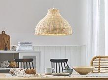 Pendant Ceiling Lamp Rattan Wicker Bell Shade Boho