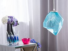 Pendant Ceiling Lamp Transparent Blue Glass Shade