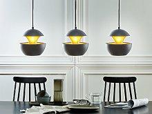 Pendant Lamp Black Metal Gold Inner Modern Design