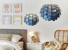 Pendant Lamp Blue Plastic Pine Cone Globe Shade