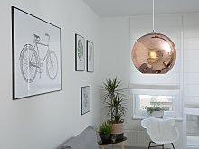 Pendant Lamp Copper Glass Round Globe Shape 1