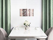 Pendant Lamp Copper Metal Drum Shaped Modern