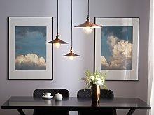 Pendant Lamp Copper Metal Modern Industrial