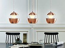 Pendant Lamp Copper Metal White Inner Modern
