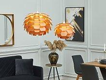 Pendant Lamp Copper Plastic Pine Cone Globe Shade