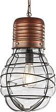 Pendant lamp Edda Antique copper