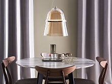 Pendant Lamp Gold Smoked Glass with LED Industrial