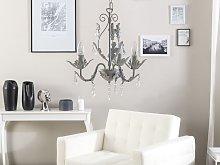 Pendant Lamp Grey Iron 3 Lights Decorative Faux