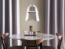 Pendant Lamp Grey Smoked Glass with LED Industrial