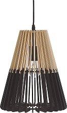 Pendant Lamp Light Wood with Black MDF Openwork