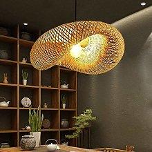Pendant Lamp Retro Natural Bamboo Rattan Woven