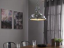 Pendant Lamp Silver Chromed Metal Task Lighting