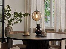 Pendant Lamp Tinted Glass Gold Modern Globe