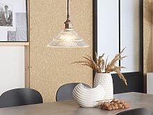 Pendant Lamp Transparent Glass Copper Vintage